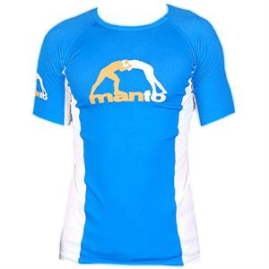 Manto Logo Short Sleeve Blue Rashguard